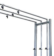4 Leg Frame Arch (Stainless Steel) (2) Water Lines (1) Rain Bar