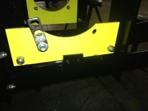 Plate for Spring Holder On Exit Door For Over And Under Conveyor.