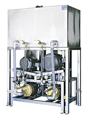 10/10 HP Twin High Pressure Wheel Blaster Pump Station